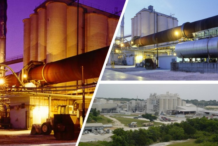 Lehigh White Cement plants in Waco and York, USA